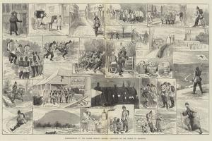 Reminiscences of the Easter Monday Review, Sketches on the March to Brighton by Alfred Courbould