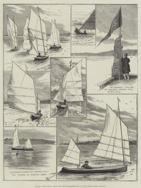 Royal Canoe Club, Race for the Challenge Cup at the Welsh Harp, Hendon by Alfred Courbould