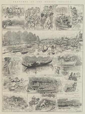 Sketches at the Henley Regatta