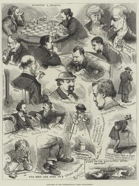 Sketches at the International Chess Tournament by Alfred Courbould