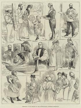 Sketches at the Opening of the International Fisheries Exhibition by Alfred Courbould