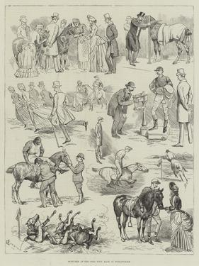 Sketches at the Polo Pony Race at Hurlingham by Alfred Courbould