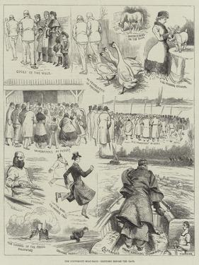 The University Boat-Race, Sketches before the Race by Alfred Courbould