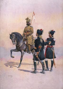Soldier of the 37th Lancers (Baluch Horse) Baluch, the 36th Jacob's Horse Pathan and the 35th… by Alfred Crowdy Lovett