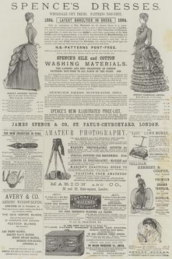 Page of Advertisements by Alfred Crowquill