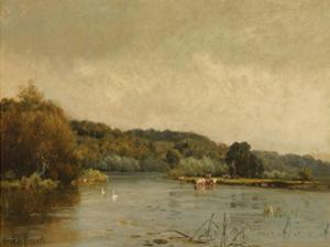 An Autumn Morning (No. 3) by Alfred De Breanski