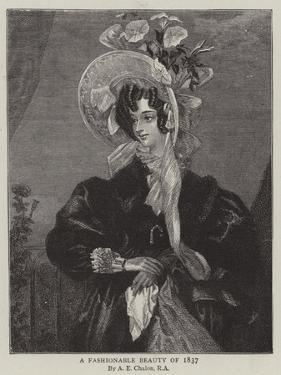 A Fashionable Beauty of 1837 by Alfred-edward Chalon