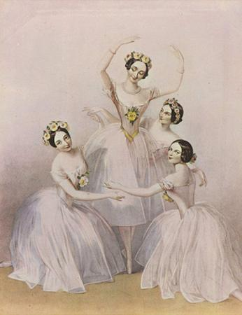 Alfred Edward Chalon (Famous dancers of the Royal Opera: Carlotta Grisi, Maria Taglioni, Lucile Gra