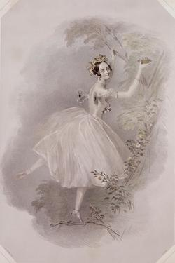Marie Taglioni (1804-84) as the Sylph in 'La Sylphide', Engraved by E. Marton, C.1832 by Alfred-edward Chalon