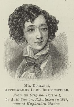 Mr Disraeli, Afterwards Lord Beaconsfield by Alfred-edward Chalon