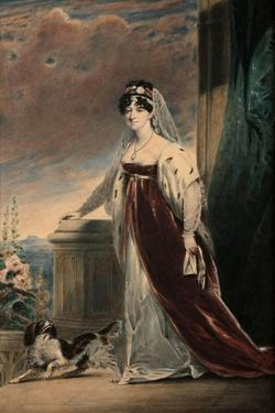 Portrait of Lady Eleanor Egerton, C.1820 by Alfred-edward Chalon