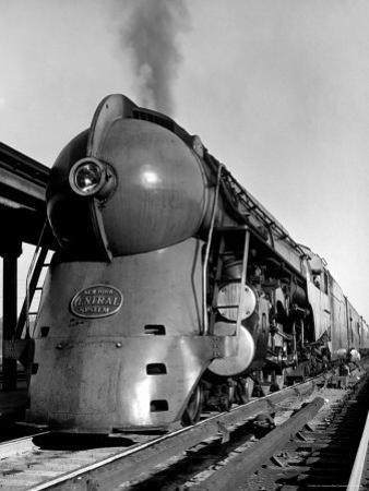 20th Century Limited Train on Tracks by Alfred Eisenstaedt
