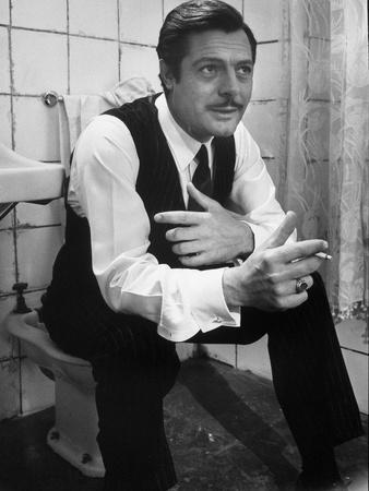 "Actor Marcello Mastroianni in a Scene From the Movie ""Marriage Italian Style"""