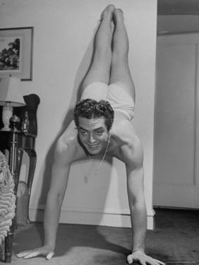 Actor Victor Mature Exercising to Keep Fit by Alfred Eisenstaedt