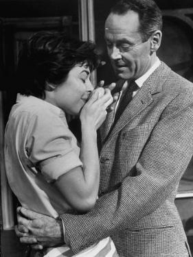 "Actors Anne Bancroft and Henry Fonda in Scene From Broadway Play ""Two for the Seesaw"" by Alfred Eisenstaedt"