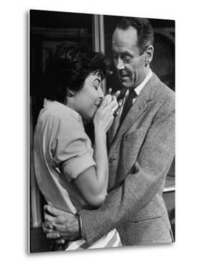"""Actors Anne Bancroft and Henry Fonda in Scene From Broadway Play """"Two for the Seesaw"""" by Alfred Eisenstaedt"""
