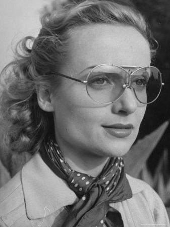 Actress Carol Lombard Wearing Sunglasses for Skeet Shooting at Gun Club by Alfred Eisenstaedt