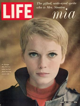 Actress Mia Farrow, May 5, 1967