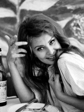 Actress Sophia Loren by Alfred Eisenstaedt