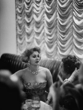 Actress Zsa Zsa Gabor at Prince Aly Khan's Party by Alfred Eisenstaedt