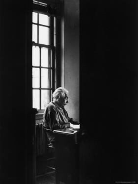 Albert Einstein Sitting Alone at the Institute for Advanced Study by Alfred Eisenstaedt