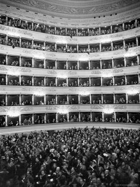 Audience at Performance at La Scala Opera House by Alfred Eisenstaedt