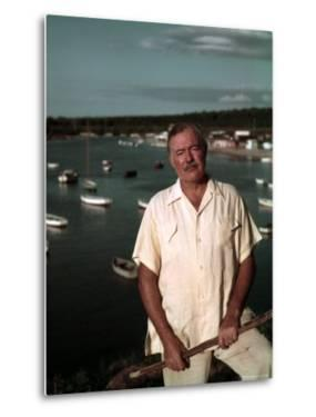 "Author Ernest Hemingway at Cuban Fishing Village Like the One in Book ""The Old Man and the Sea"" by Alfred Eisenstaedt"