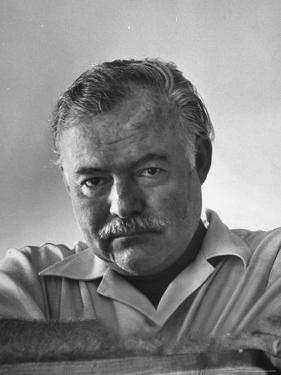 Author Ernest Hemingway in Fishing Village by Alfred Eisenstaedt
