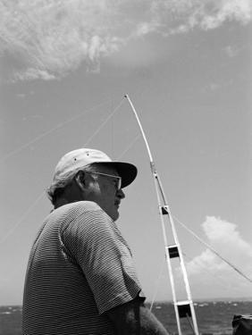 Author Ernest Hemingway Participating in a Cuban Fishing Tournament by Alfred Eisenstaedt