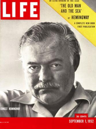 Author Ernest Hemingway Taken, September 1, 1952 by Alfred Eisenstaedt