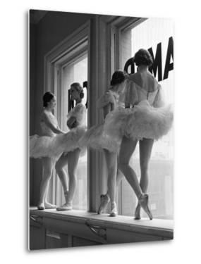 Ballerinas on Window Sill in Rehearsal Room at George Balanchine's School of American Ballet by Alfred Eisenstaedt