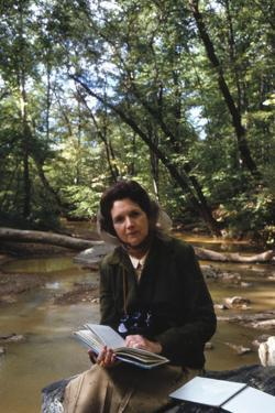 Biologist-Author Rachel Carson Reading in the Woods Near Her Home, 1962 by Alfred Eisenstaedt