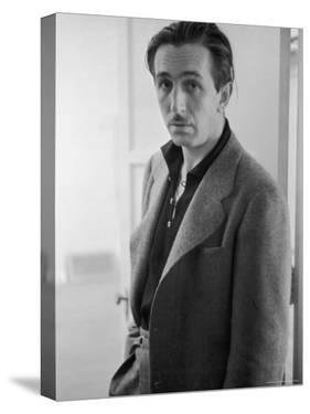 Candid Portrait of Movie Studio Head Walt Disney Standing in Doorway at Studio by Alfred Eisenstaedt