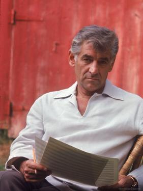 Composer/Conductor Leonard Bernstein by Alfred Eisenstaedt