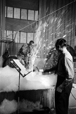 Disney's Jim Mcdonald and Paul Smith on a Sound Effects Stage Creating Sounds, Burbank, CA, 1953 by Alfred Eisenstaedt