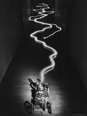 Electricity Emitted from Machine at MIT, Boston, MA by Alfred Eisenstaedt