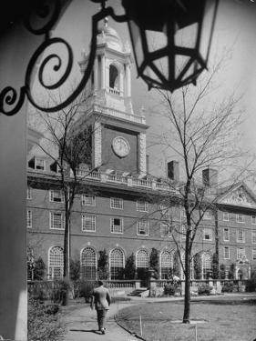 Exterior of Eliot House at Harvard University by Alfred Eisenstaedt