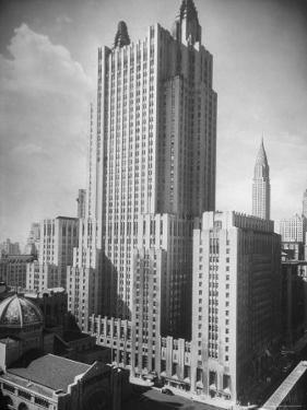 Exterior of Waldorf Astoria Hotel by Alfred Eisenstaedt