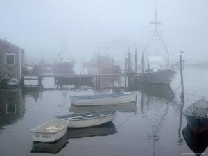 Foggy Morning in Menemsha Harbor on Martha's Vineyard by Alfred Eisenstaedt