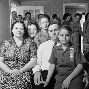 Frank Engel and Family, Ohio's Most Typical Farm Family Winners on Exhibit at Ohio State Fair, 1941 by Alfred Eisenstaedt