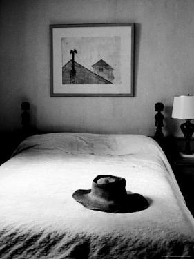 Hat Belonging to Painter Andrew Wyeth on Top of Bed at Home by Alfred Eisenstaedt