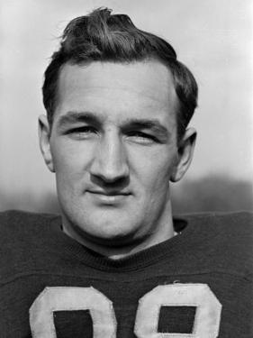 Headshot of University of Michigan Fottball Player, No.98, Tom Harmon by Alfred Eisenstaedt