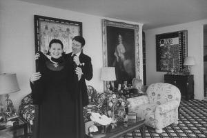 Heiress and Designer Gloria Vanderbilt at Home with Husband Wyatt Cooper, New York, 1974 by Alfred Eisenstaedt