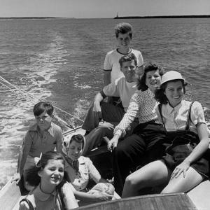 Kennedy Family: Robert, Joe Jr, Patricia, Eunice, Jean, Rose and Ted by Alfred Eisenstaedt