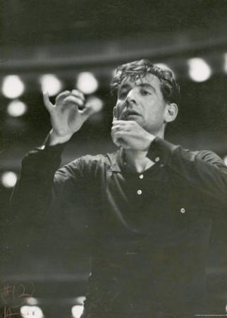 "Leonard Bernstein Conducting Rehearsal of NY Philharmonic in Hindemith's ""Mathis de Mahler"""