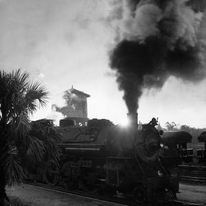 Locomotive Rolling Into Junction at Sunrise by Alfred Eisenstaedt