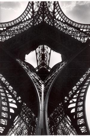 Low Angle of the Eiffel Tower