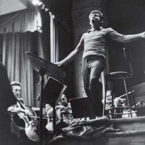 Maestro Leonard Bernstein Conducting the NY Philharmonic Orchestra for a Concert at Carnegie Hall by Alfred Eisenstaedt