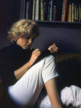 Marilyn Monroe Writing at Home by Alfred Eisenstaedt