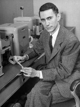 Mathematician and Computer Scientist Claude Shannon by Alfred Eisenstaedt